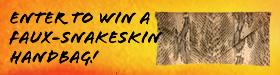 Enter to Win a Faux-Snakeskin Handbag!