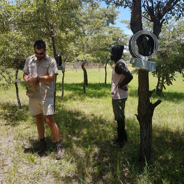 Testing of elephant collars involves moving the collars around and seeing if the information we are sent in GPS signals are accurate.