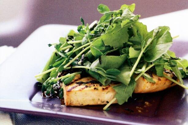Marinated Soyco Tofu with Rocket Salad