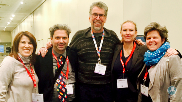 From left to right: Linda Schlapp, Michael Luongo, Glenn Jampol, Merryn Johns and Kerry Branon