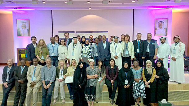 Officials from cheetah range states and other key countries involved in its illegal trade came together in an IFAW-supported workshop in Kuwait recently.]