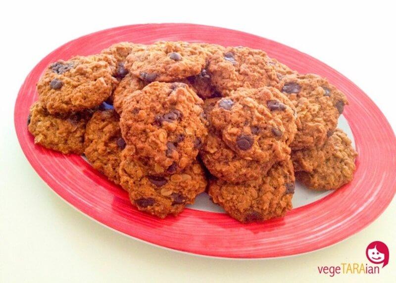 Vegan Cinnamon Choc Chip Anzac Biscuits