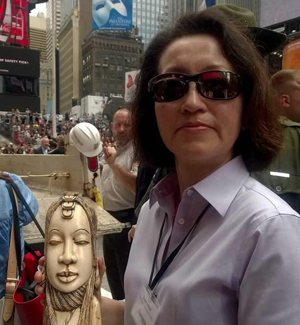 The ivory carvings and trinkets crushed at Time Square were confiscated from illegal trade on the streets of New York.