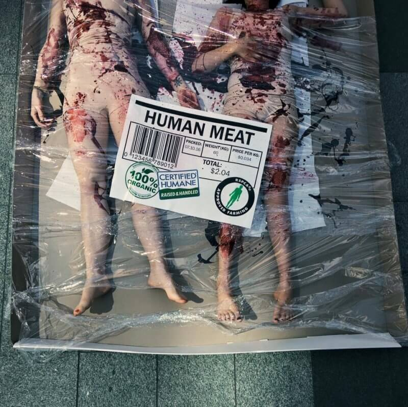 Human Meat Protest Melbourne 2016