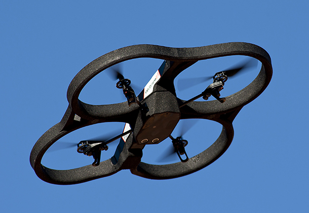 A Parrot AR drone. Image source: Wikipedia
