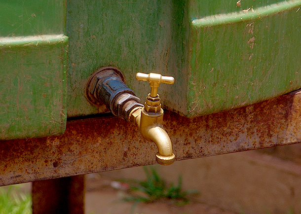 Many communities rely on water being trucked in