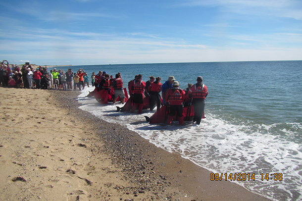 A large crowd of more than a hundred beachgoers cheered as the animals made their way offshore—a great ending to a successful response.