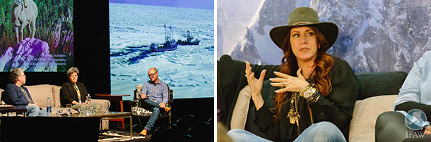 ifaw and joely fisher at the jackson hole film festival in wyoming
