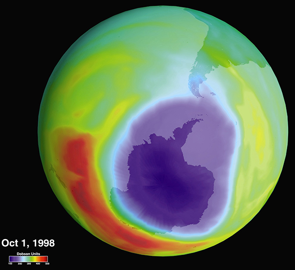 Ozone layer image. c. Wikimedia Commons
