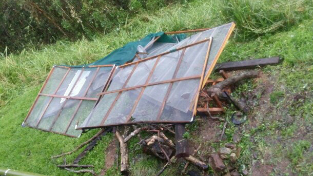 Cyclone Debbie left wildlife enclosures and aviaries  at Fauna Rescue Whitsundays badly damaged. PHOTO: © Fauna Rescue Whitsundays