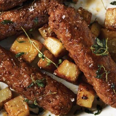 Linda McCartney Vegetarian Sausages Cooked