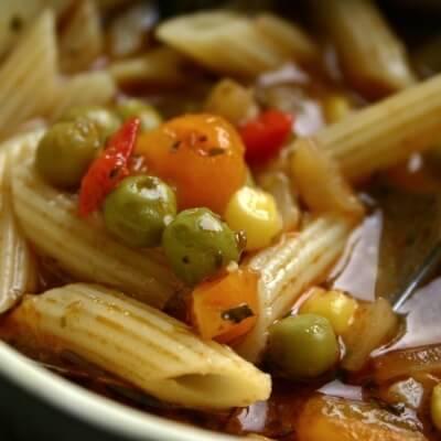 Vegan Pasta Noodle Soup