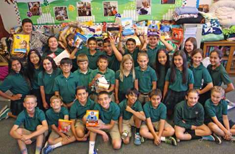 A True Blessing: Students Celebrate St. Francis Day by Collecting Supplies for Shelter Pets