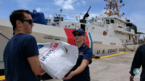 The US Coast Guard helps IFAW's Disaster Response teams access the islands affected by Hurricane Irma.
