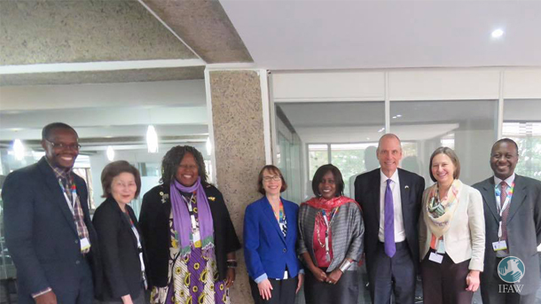 The author (far right) with members of the US and Kenyan delegations.