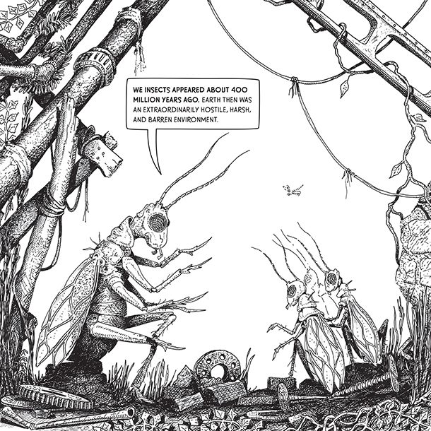 illustration from tom ramey's graphic novel deadly harvest