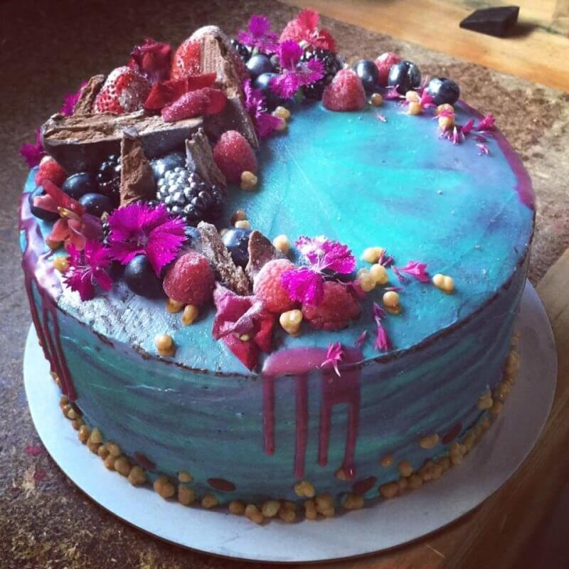 A beautiful custom cake at Secret Creek Cafe