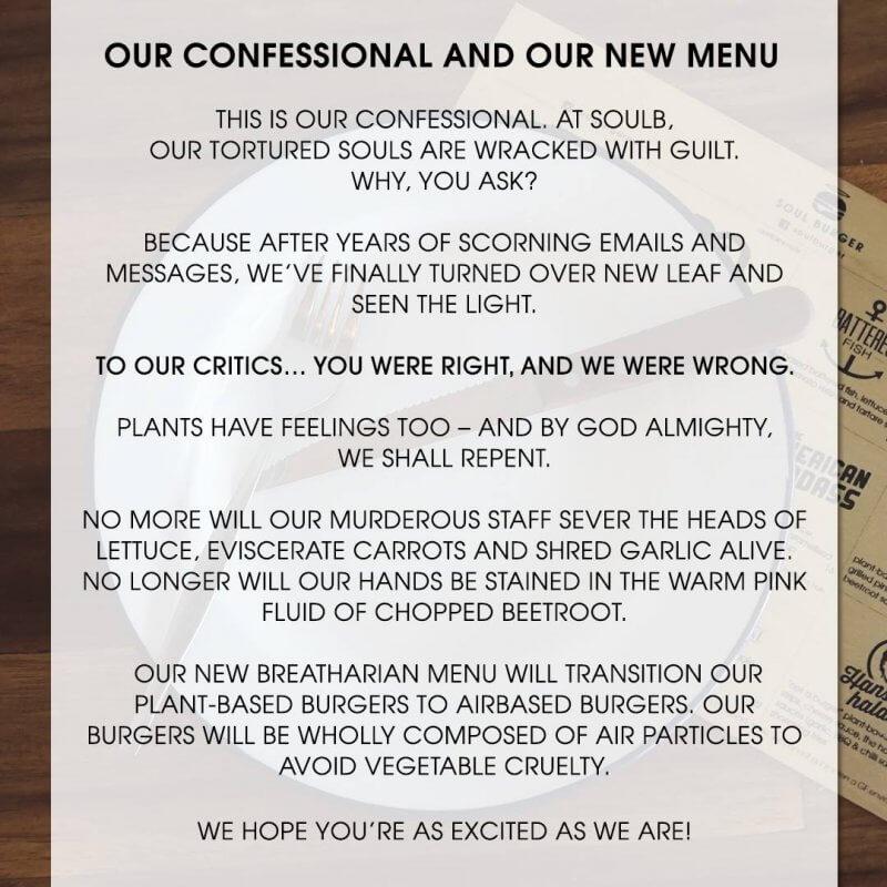 Soul Burger's Confession