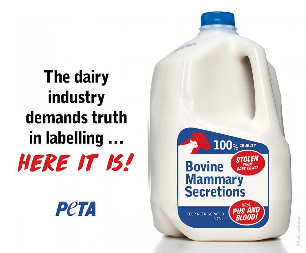 Milk Truth Label PETA