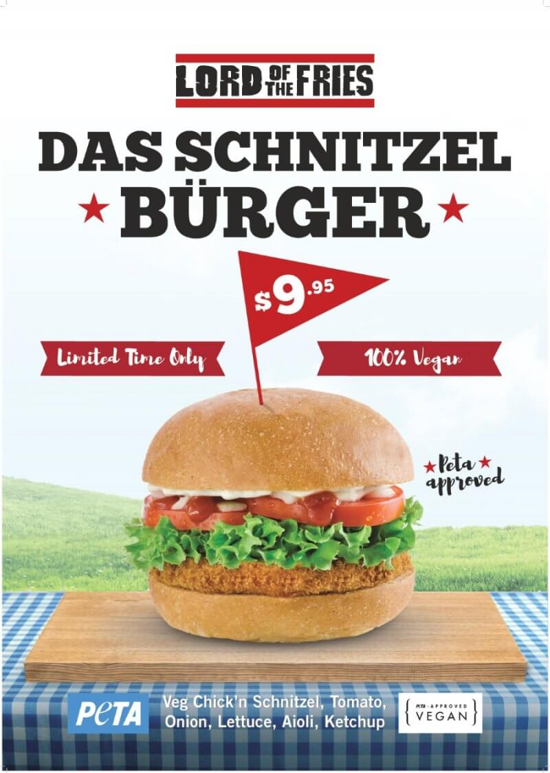Lord of the Fries Das Schnitzel Burger