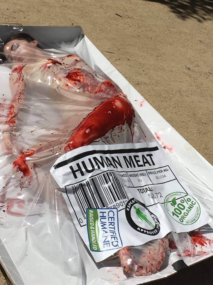Human Meat Demo Melbourne