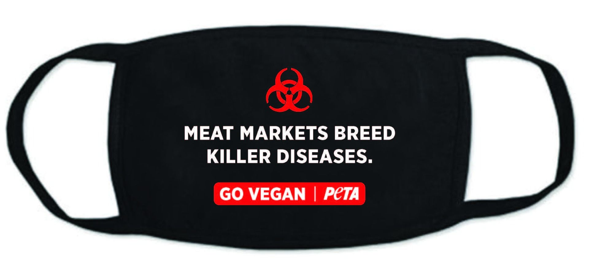 Photo of PETA's facemark.