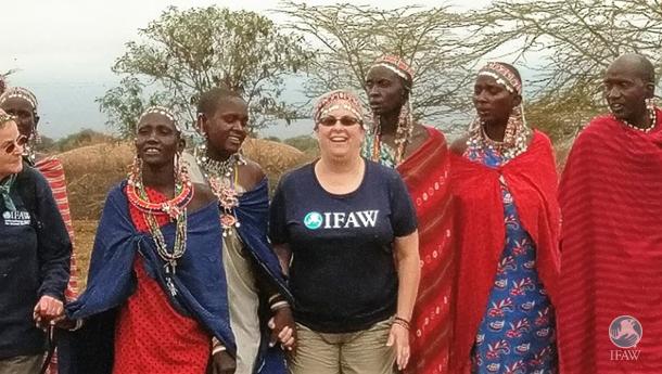 ifaw ambassadors visit maasai in amboseli kenya