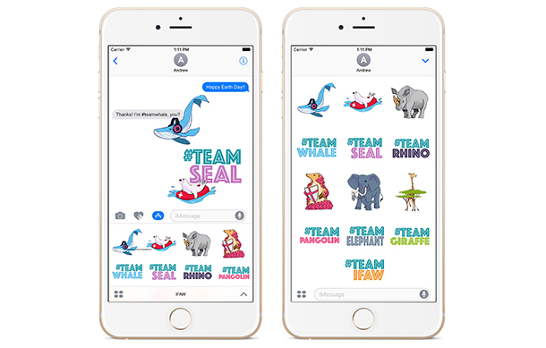 IFAW Animoji sticker pack